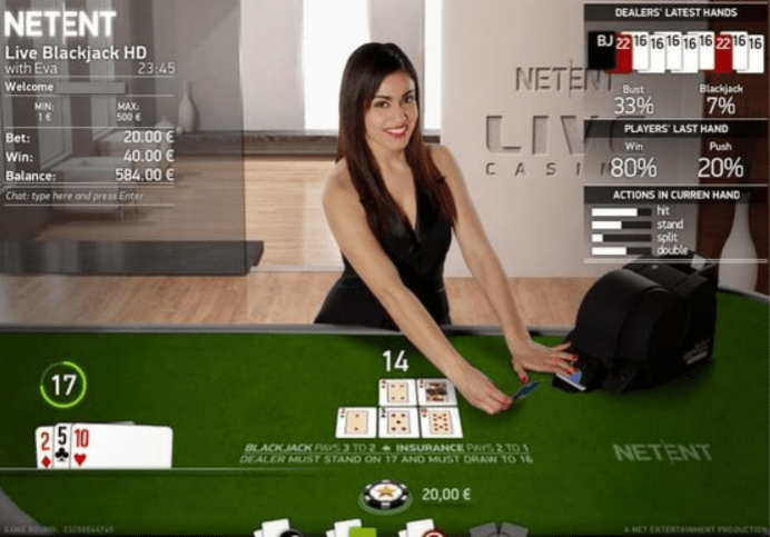 IoT Live Blackjack being played online, a great way to make contact with people during self-isolation brought to you by Software Provider NetEnt