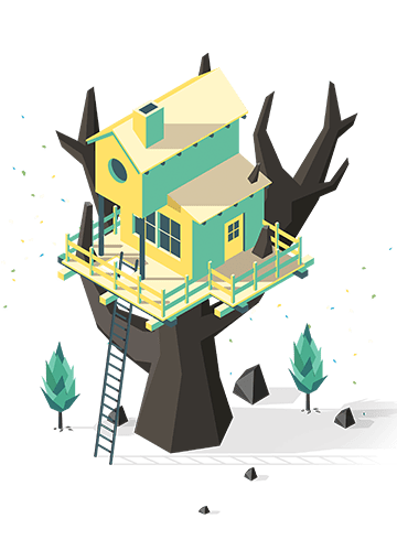 The Almost Gone tree house art