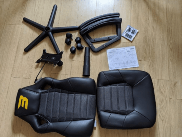 BraZen Salute Gaming Chair box contents