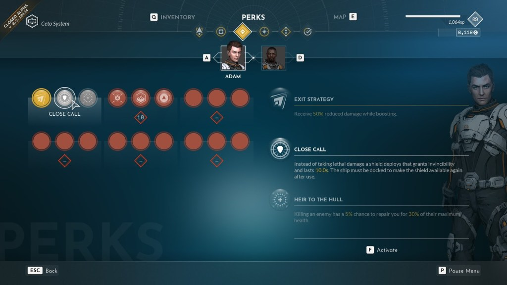 Everspace 2 Perk System