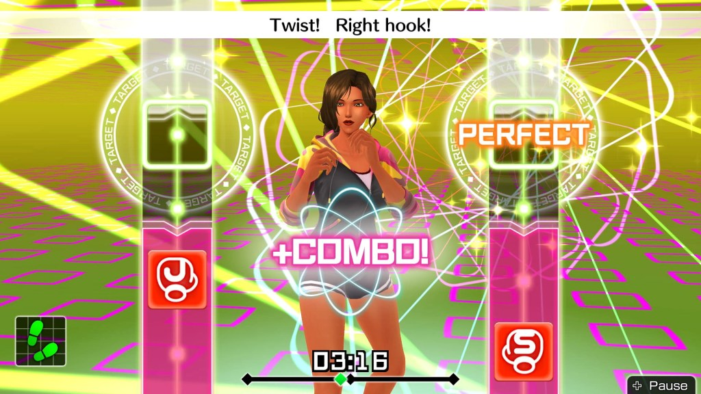 Fitness Boxing Combo Gameplay with Female Trainer