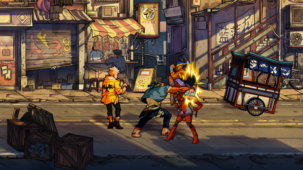 Streets Of Rage 4 fighting