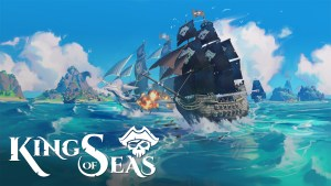 Team17 and 3DClouds King of Seas logo and artwork showing a ship on the sea