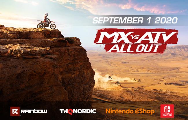 MX vs ATV All Out on Nintendo Switch September 1st, 2020