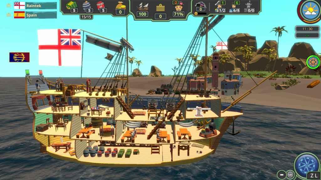 Her Majestys Ship Gameplay Screenshot ship sideview