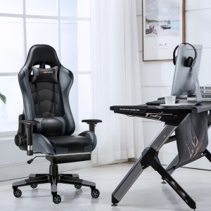 JL Comfurni Gaming Chair at a desk