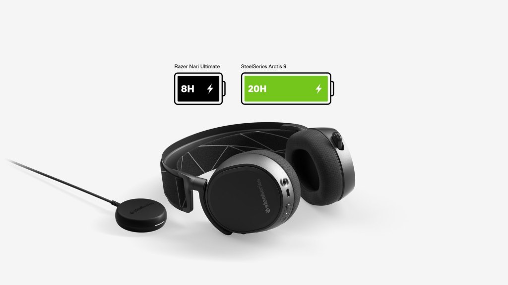 SteelSeries Arctis 9 Wireless gaming headset battery life