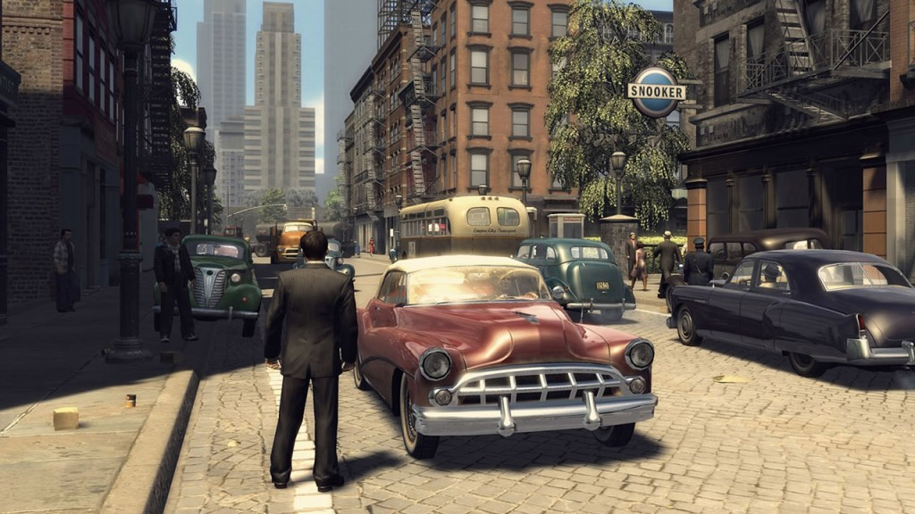 Mafia II screenshot of a red car