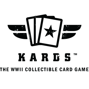 "KARDS logo with slogan ""The WWII Collectible Card Game"""