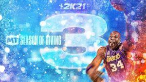 NBA 2K21 Season of Giving logo and artowrk