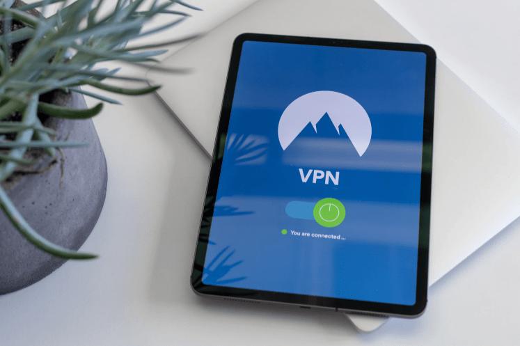 NordVPN on a tablet