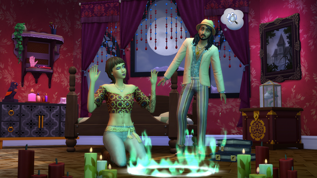 The Sims 4 Paranormal Stuff Pack summoning