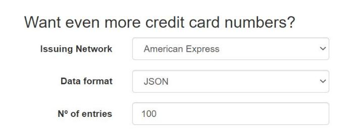 Getcreditcardnumber credit card generator