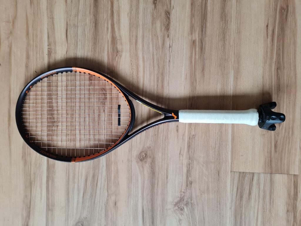 HTC VIVE Tracker on a Tennis Racket