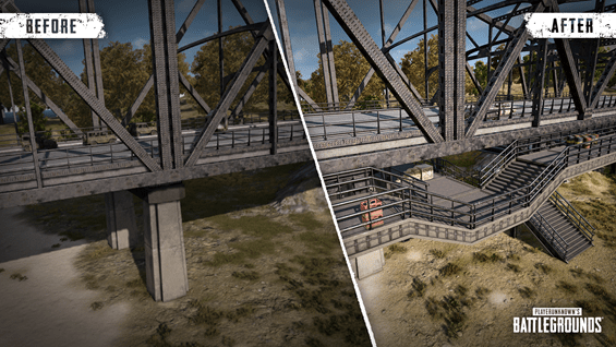 PUBG Erangel Map Updates shows new bridge