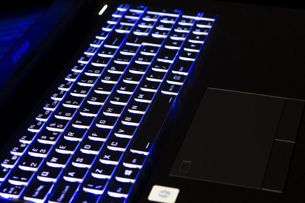 Reign Gaming Laptop keyboard lit up