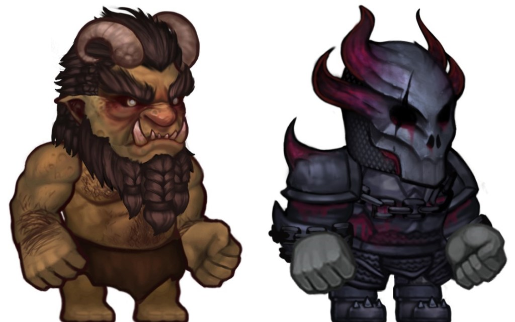 Ultimate ADOM Character Artwork of two characters