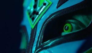 WWE 2K22 Teaser Screenshot showing a close up of Rey Mysterio