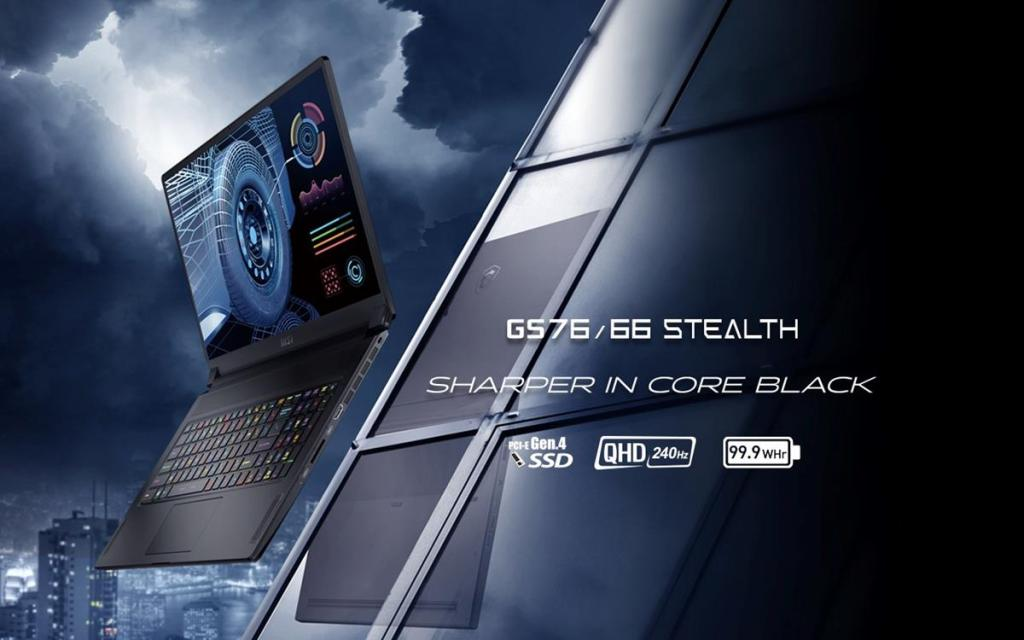 MSI GS76/66 Stealth laptop