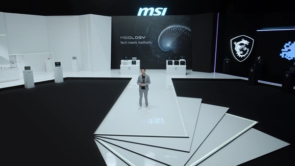 MSI MSIology Virtual Event Stage and host