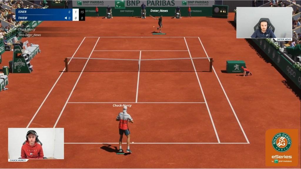 Roland-Garros eSeries gameplay