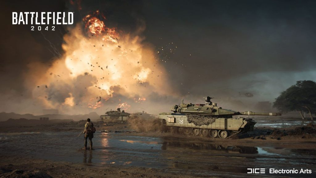 Battlefield 2042 soldier and tank