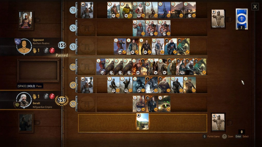 Gwent minigame in The Witcher 3