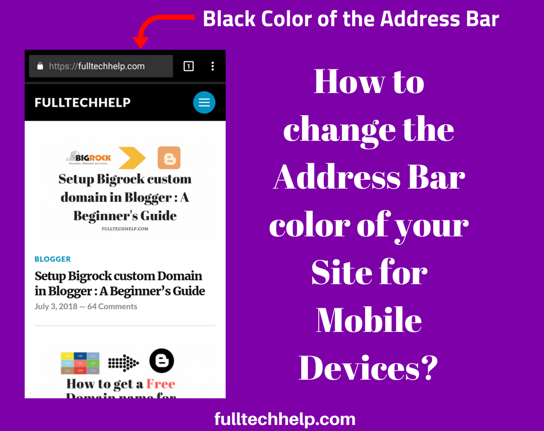 How to change the address bar color of your site for mobile browsers?
