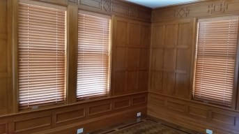 """Stain 2"""" Wood Blinds"""