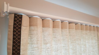 Reverse Pleat Drape with Deco Trim
