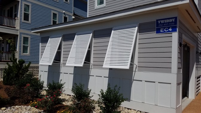 Bahama Shutters in White