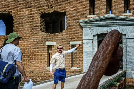 Jeff's guided tour of Fort Jefferson