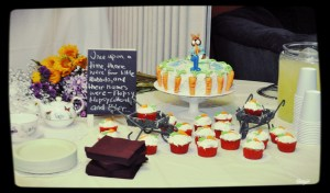 food table and display from my son's Peter Rabbit themed birthday party