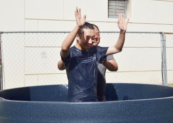 January 24, 2016: Joshua gets baptized