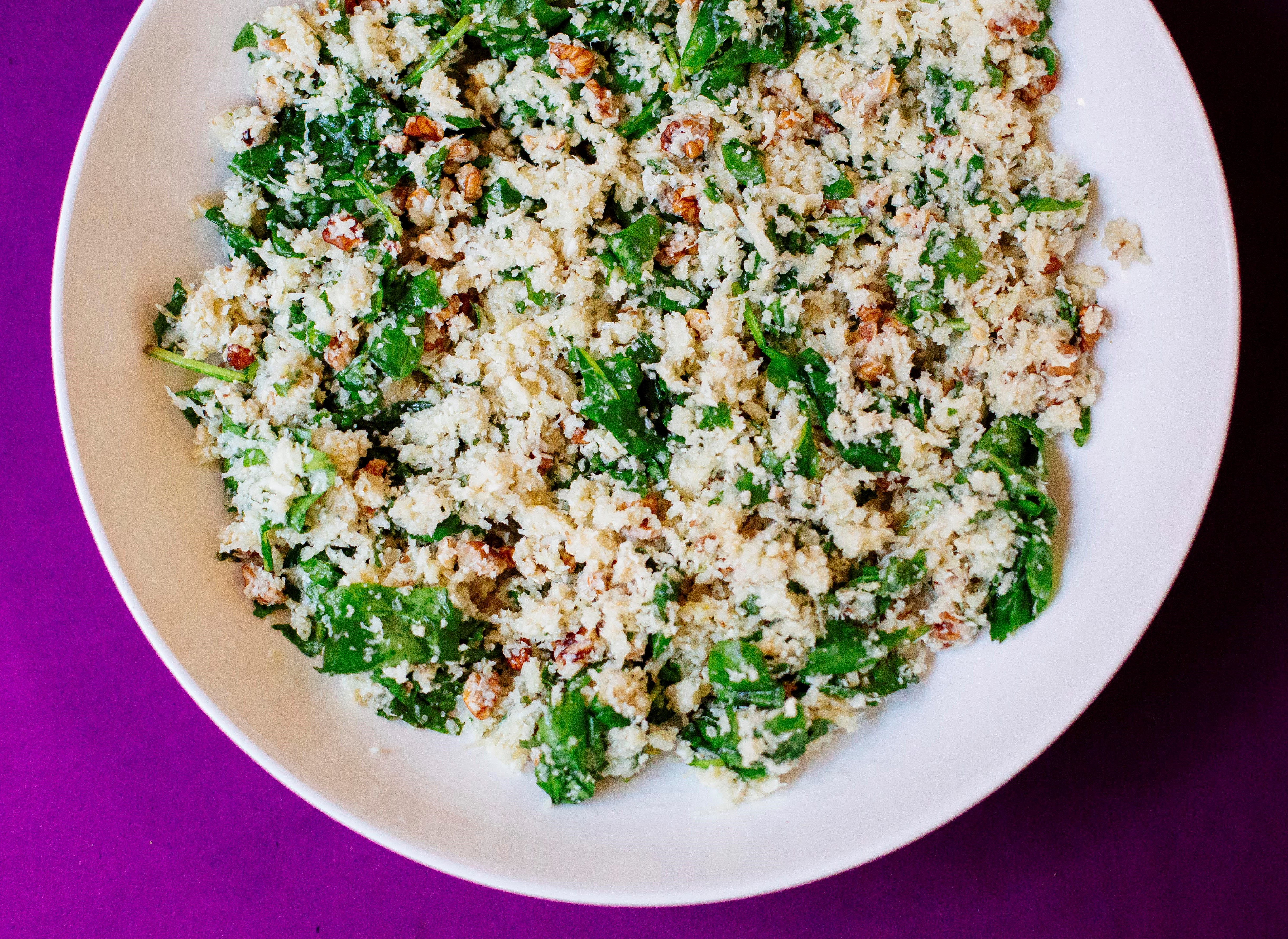 Walnnut Spinach Couscous