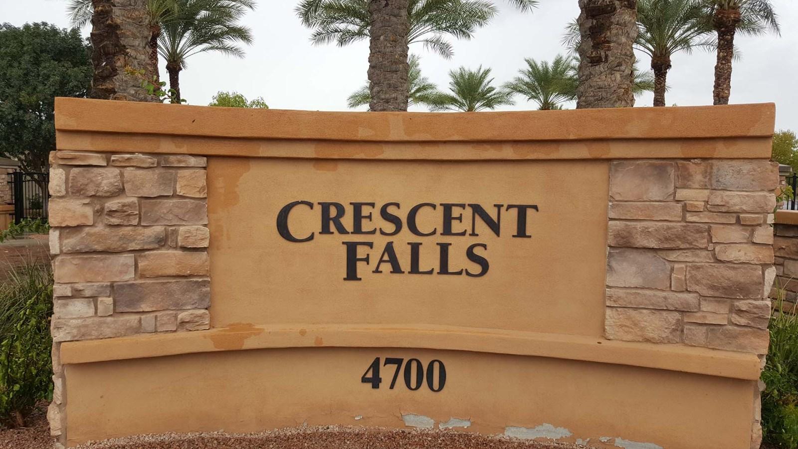 Crescent Falls in Fulton Ranch