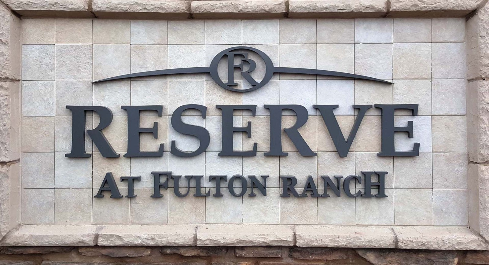 Photo of the sign at the Reserve at Fulton Ranch