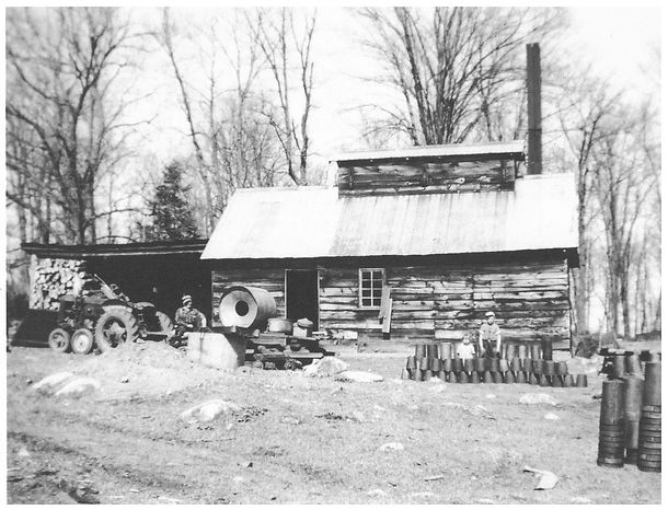 Cleaning out the woodshed in the 1950s