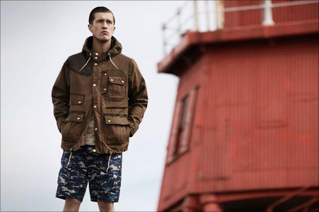 Barbour新ラインデザインジャケット男性着用イメージ