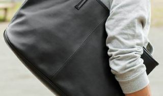 by S/LEATHER TOTE BAG ?