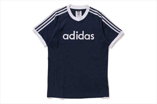 adidas×ベッケンバウアー復刻トラックスーツコレクションTシャツネイビー
