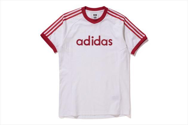 adidas×ベッケンバウアー復刻トラックスーツコレクションTシャツホワイト
