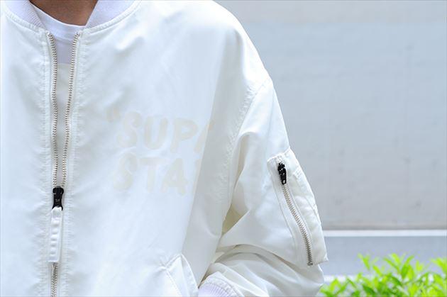 soe2015秋冬コレクションMA-1型ボンバージャケットホワイト2