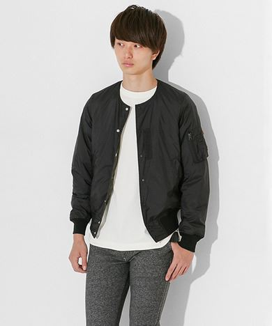 ALPHA INDUSTRIES × SENSE OF PLACE by URBAN RESEARCHコラボインナーMA-1メンズブラック
