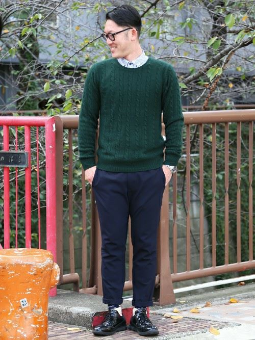 Cable knit mens coordinate15 r