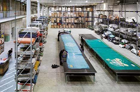FREITAGの倉庫風景