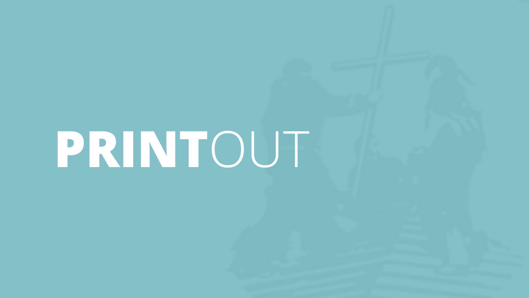 Printout – May 2014: Our Hope is in Christ Jesus