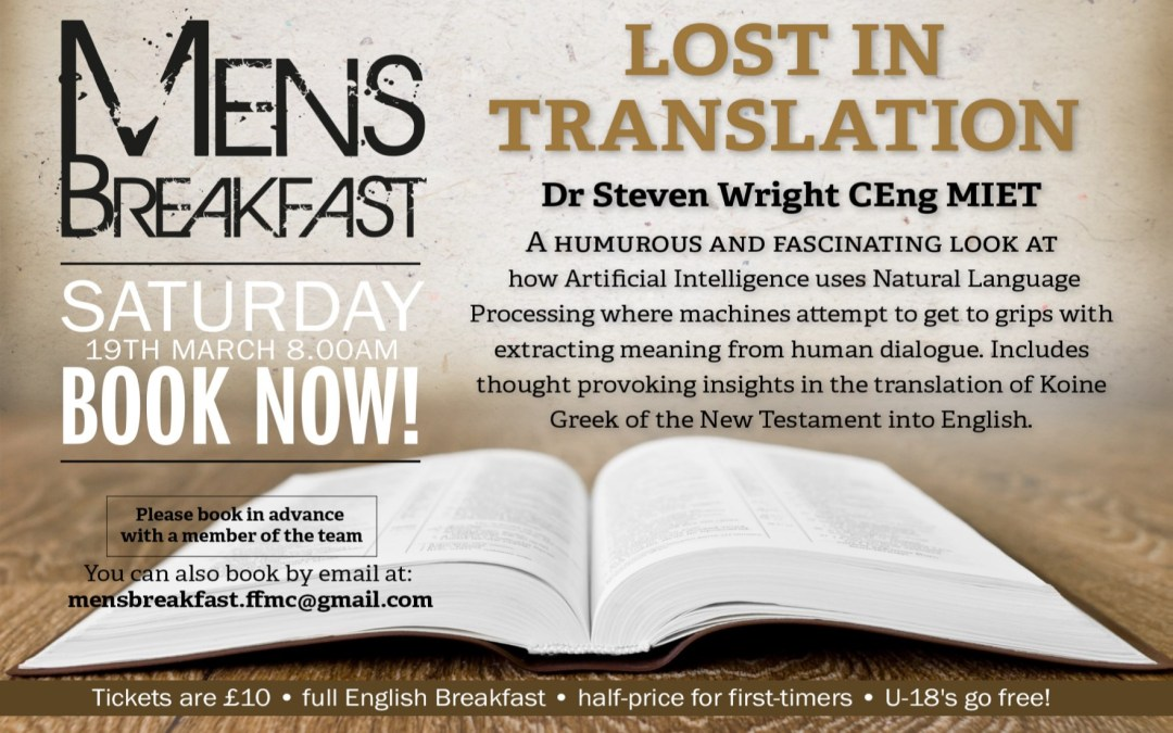 Men's Breakfast: Lost in Translation with Dr. Steve Wright