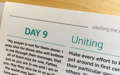 Uniting – reflections from Sue Chastney   Day 9   catching the wave   Focus on 40
