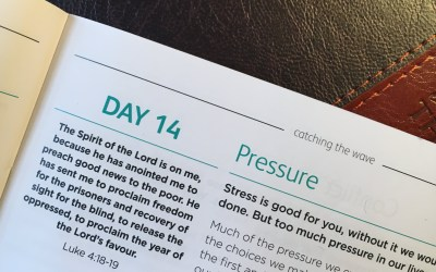 Pressure – reflections from Sue Chastney | Day 14 | catching the wave | Focus on 40